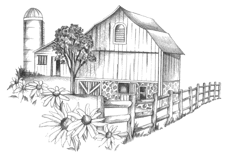 showing post & media for farm scene clip drawings   www.9drawings.com - Barns Coloring Pages Farm Silos