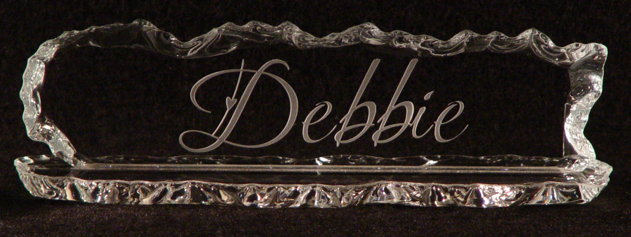 desk name smoked accessories awards center trophy glass sports corporate plates gifts plate