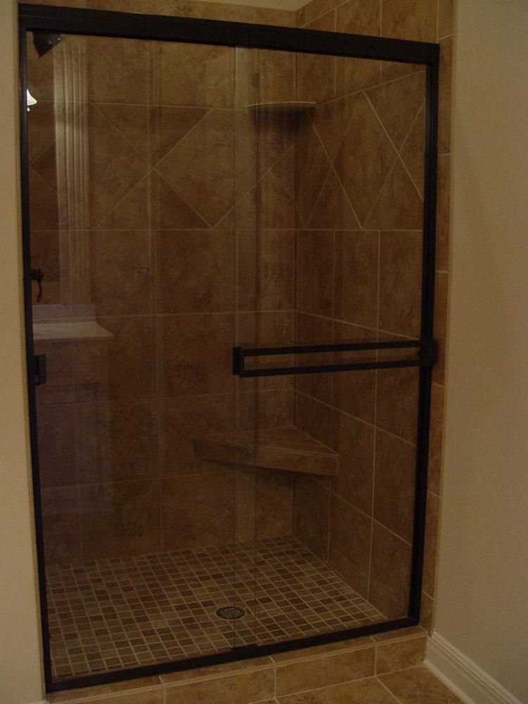 Sliding Door Handles >> Custom shower doors, etched and painted
