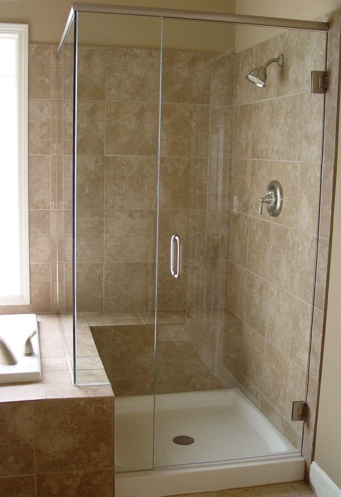 Custom shower doors etched and painted Bathroom glass doors design